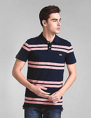 GAP Short Sleeve Striped Polo Shirt