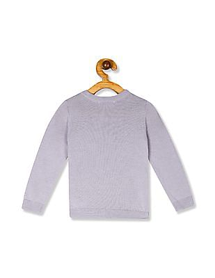 The Children's Place Purple Toddler Girl Butterfly Sequin Knit Sweater