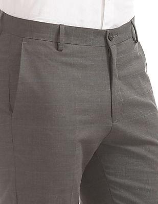 Arrow Newyork Super Slim Fit Check Trousers