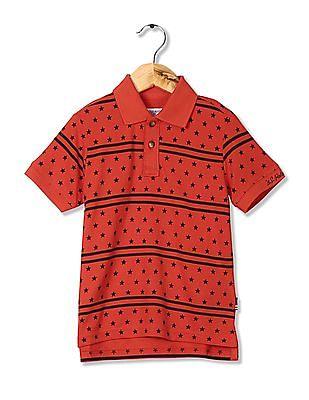 U.S. Polo Assn. Kids Boys Printed Pique Polo Shirt