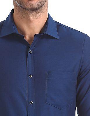 Excalibur Slim Fit Patterned Weave Shirt