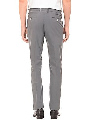 Arrow Newyork Solid Tapered Fit Trousers