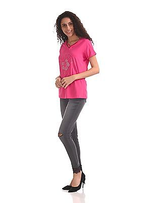 U.S. Polo Assn. Women Skinny Fit High Waist Jeans