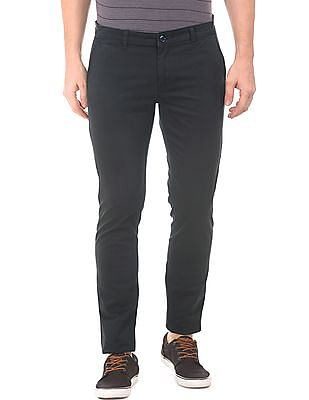 Roots by Ruggers Mid Rise Modern Fit Trousers