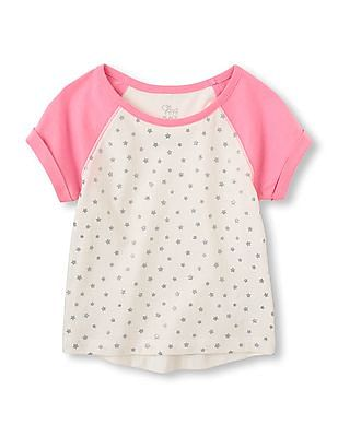 The Children's Place Baby Girl Short Sleeve Printed Top