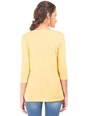 U.S. Polo Assn. Women Regular Fit Flat Knit Top