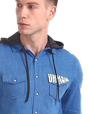 Colt Detachable Hood Patterned Shirt
