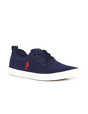 U.S. Polo Assn. Contrast Sole Mesh Sneakers