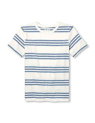 The Children's Place Boys Short Sleeve Striped Knit Top