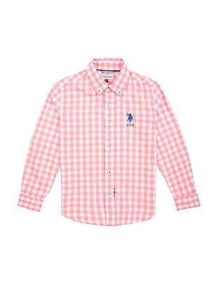 U.S. Polo Assn. Kids Boys Regular Fit Check Shirt