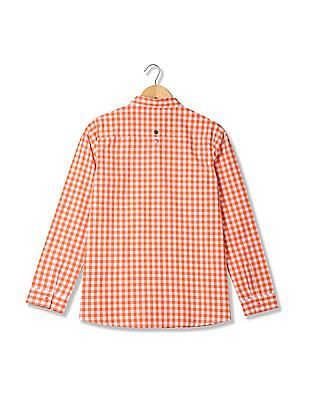 U.S. Polo Assn. Women Gingham Cotton Shirt