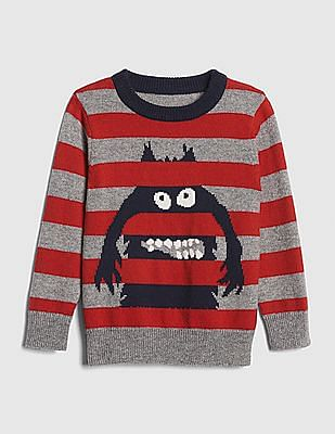 GAP Baby Graphic Stripe Crewneck Sweater