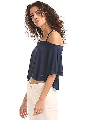 Elle Criss Cross Strap Crop Top