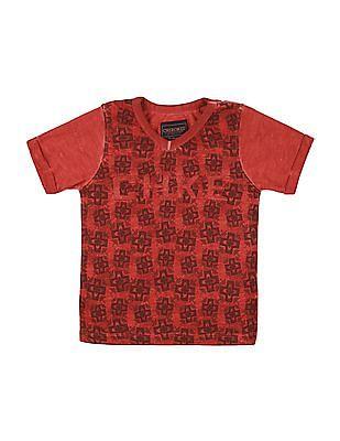 Cherokee Boys Printed Front V-Neck T-Shirt