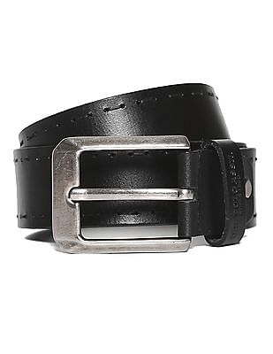 U.S. Polo Assn. Stitched Leather Belt