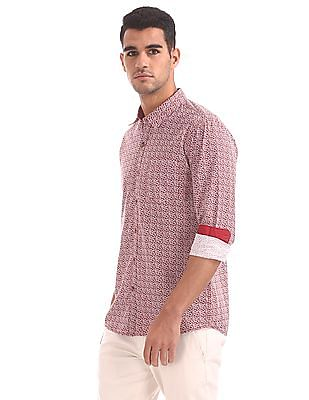 Ruggers Regular Fit Printed Shirt