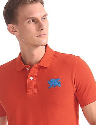 Flying Machine Regular Fit Cotton Polo Shirt
