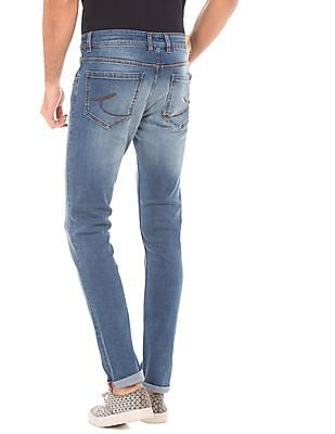 Izod Stone Washed Crinkled Slim Fit Jeans