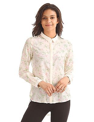 Elle Floral Printed Panelled Top
