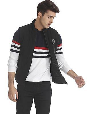 U.S. Polo Assn. Black Solid Gilet Jacket