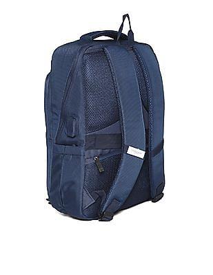 U.S. Polo Assn. Blue Textured Laptop Backpack