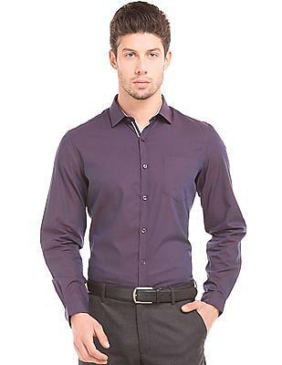 Elitus Slim Fit Two Tone Shirt
