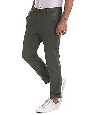 Ruggers Urban Slim Fit Solid Trousers
