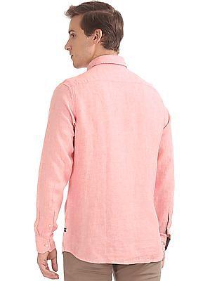 Nautica Long Sleeve Linen Shirt