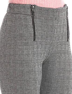 SUGR Patterned Knit Mock Zip Treggings