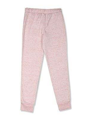 The Children's Place Girls Pink Drawstring Waist Heathered Joggers