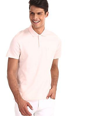 Arrow Pink Solid Regular Fit Polo Shirt