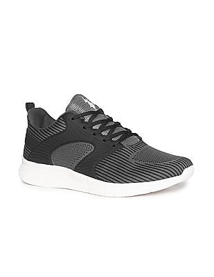 U.S. Polo Assn. Grey Low Top Knit Sneakers