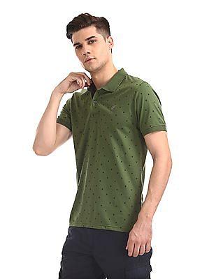 Ruggers Green Short Sleeve Printed Polo Shirt