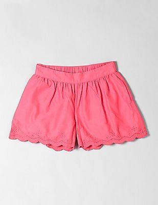 GAP Girls Red Eyelet Cotton Shorts