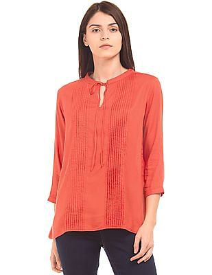 U.S. Polo Assn. Women Tucked Front Modal Top