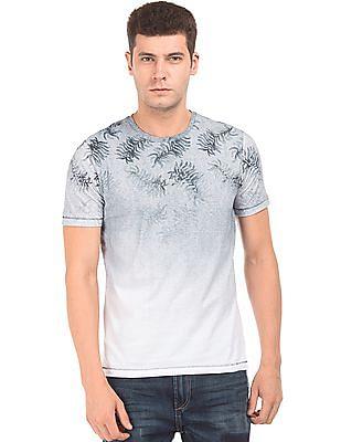 Cherokee Fern Print Gradient T-Shirt