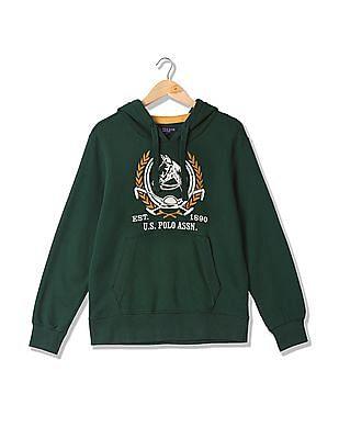 U.S. Polo Assn. Hooded Appliqued Sweatshirt