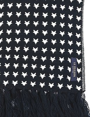U.S. Polo Assn. Patterned Knit Wool Muffler