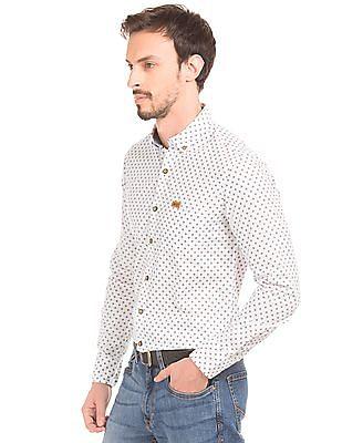 U.S. Polo Assn. Denim Co. Printed Slim Fit Shirt