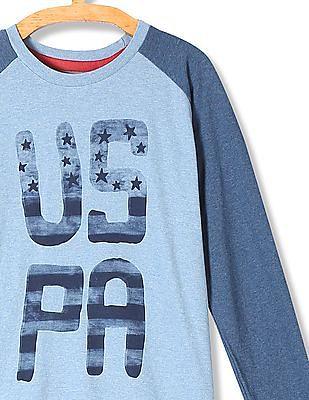 U.S. Polo Assn. Kids Boys Raglan Sleeve Colour Block T-Shirt