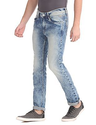 Flying Machine Skinny Fit Enzyme Wash Jeans