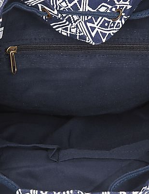 SUGR Tribal Print Canvas Backpack