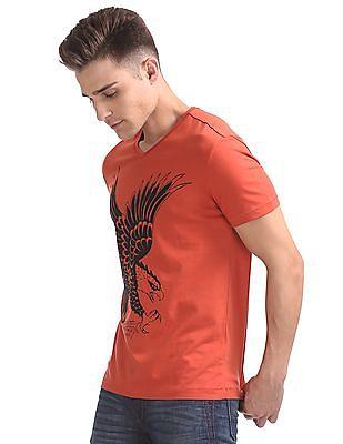 Ed Hardy Regular Fit Appliqued T-Shirt