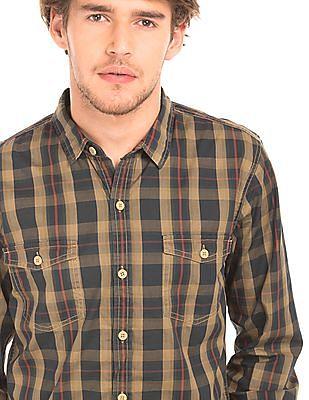 Cherokee Slim Fit Check Shirt