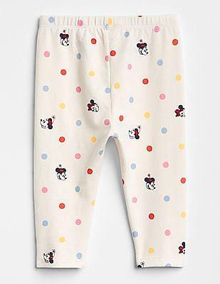 GAP Baby White Disney Minnie Mouse Leggings