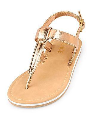 The Children's Place Girls Seaside T-Strap Sandal