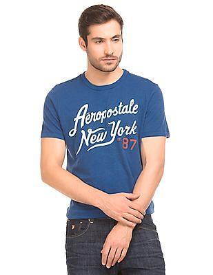 Aeropostale Melange Brand Print T-Shirt