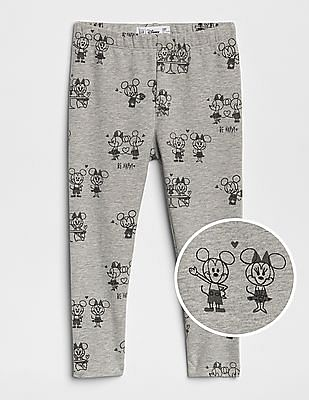 GAP Baby Disney Minnie Mouse and Mickey Mouse Leggings