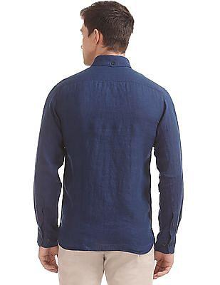 Arrow Sports Cotton Linen Button Down Shirt