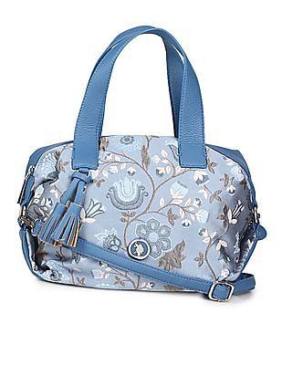 U.S. Polo Assn. Women Floral Embroidered Handbag